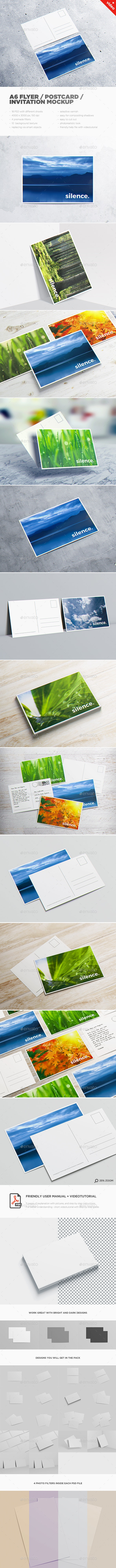 A6 Flyer / Postcard / Invitation MockUp - Miscellaneous Print
