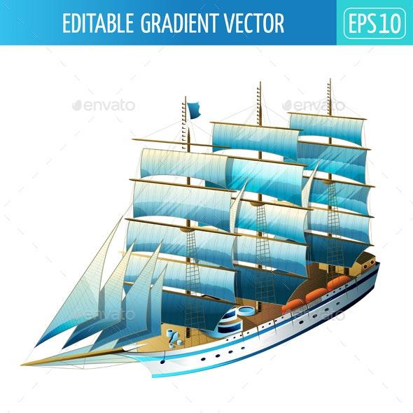Sailing Ship Illustration - Objects Vectors