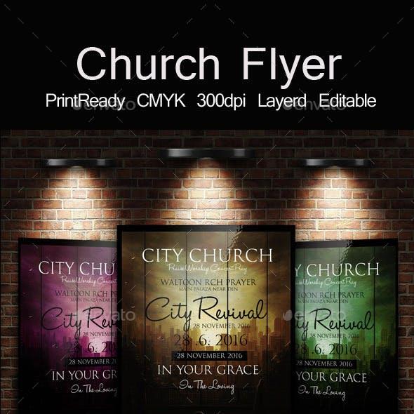 Back to God Church Flyer
