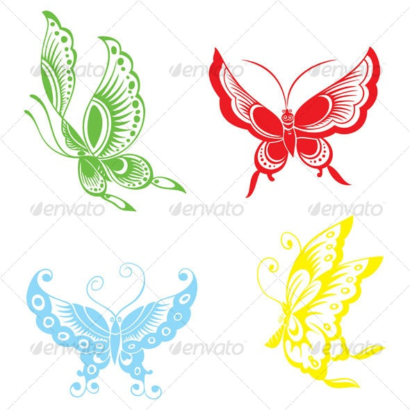 Chinese butterflies - Animals Characters