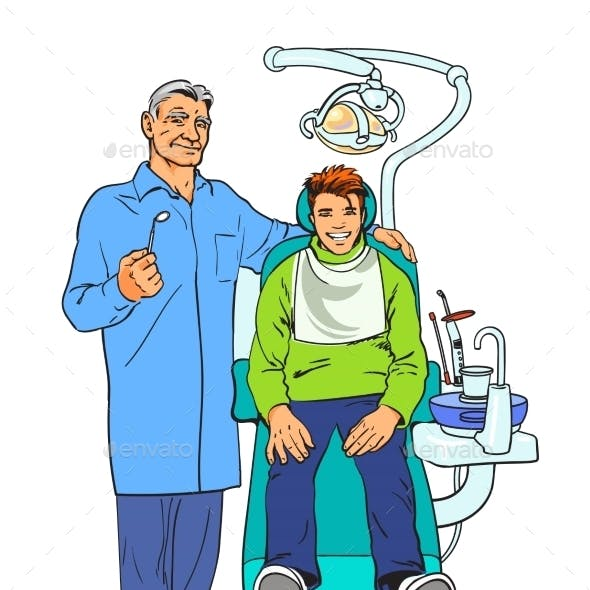 Dentist And Patient. Healthy Patient