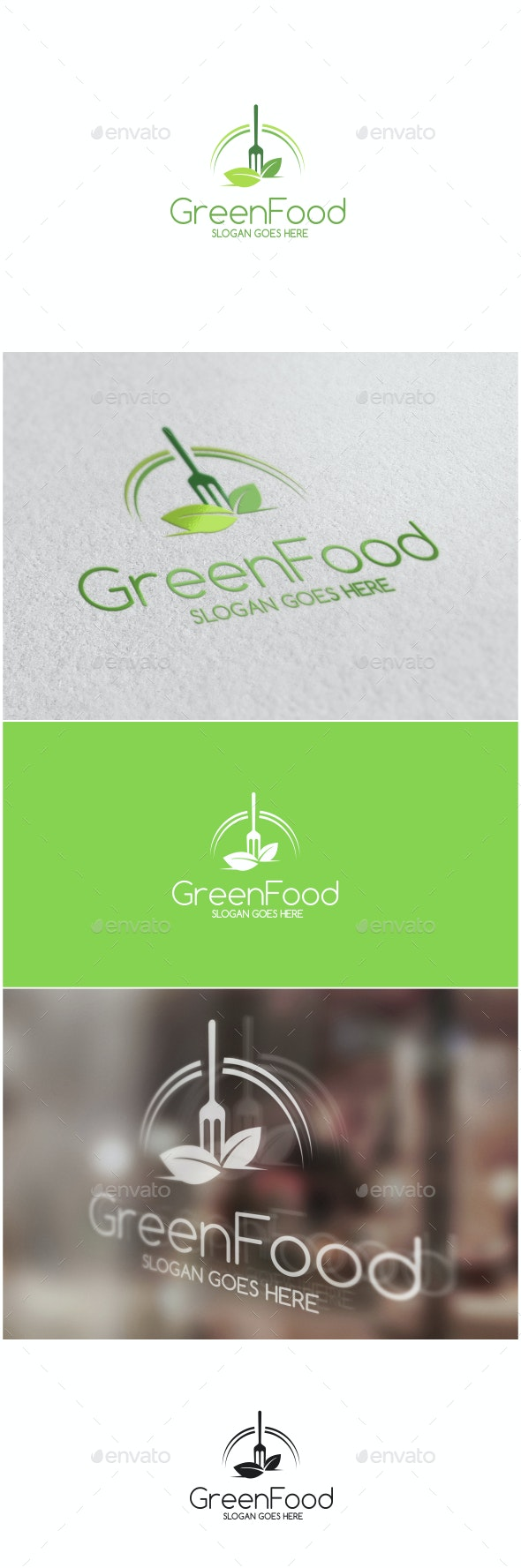 Green Food Logo - Food Logo Templates