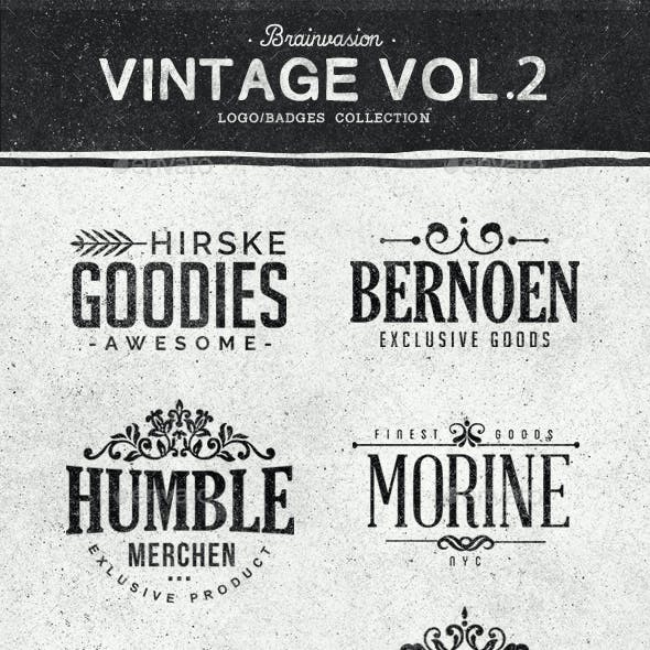 Vintage Logo/Badge Collection Vol.2