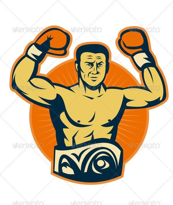 Champion Boxer Boxing Retro - Sports/Activity Conceptual