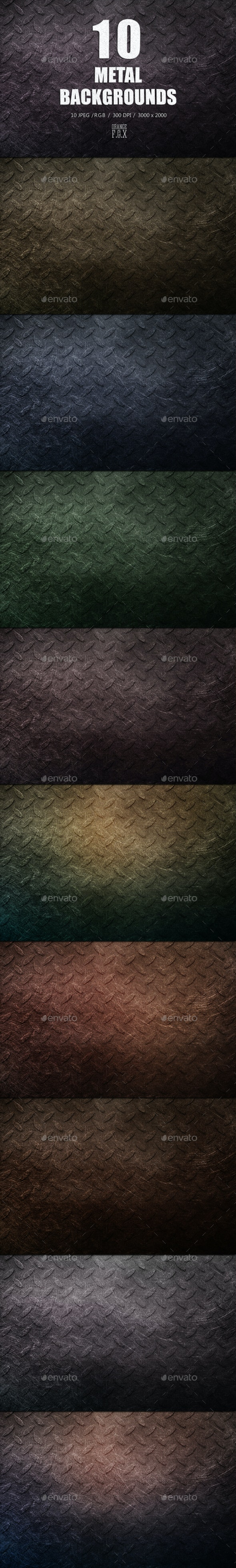 10 Metal Backgrounds - Abstract Backgrounds