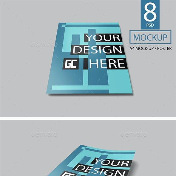 A4 Paper Mockup / Poster