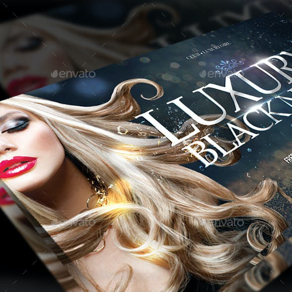 Flyer Luxurious Black Night