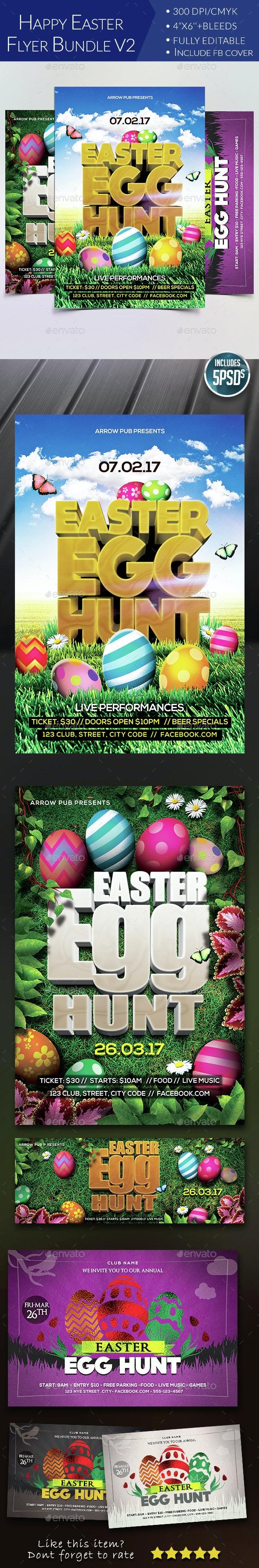 Easter Flyer Bundle V2 - Clubs & Parties Events