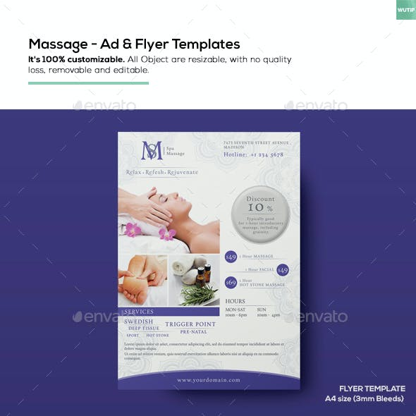 Massage - Ad & Flyer Template