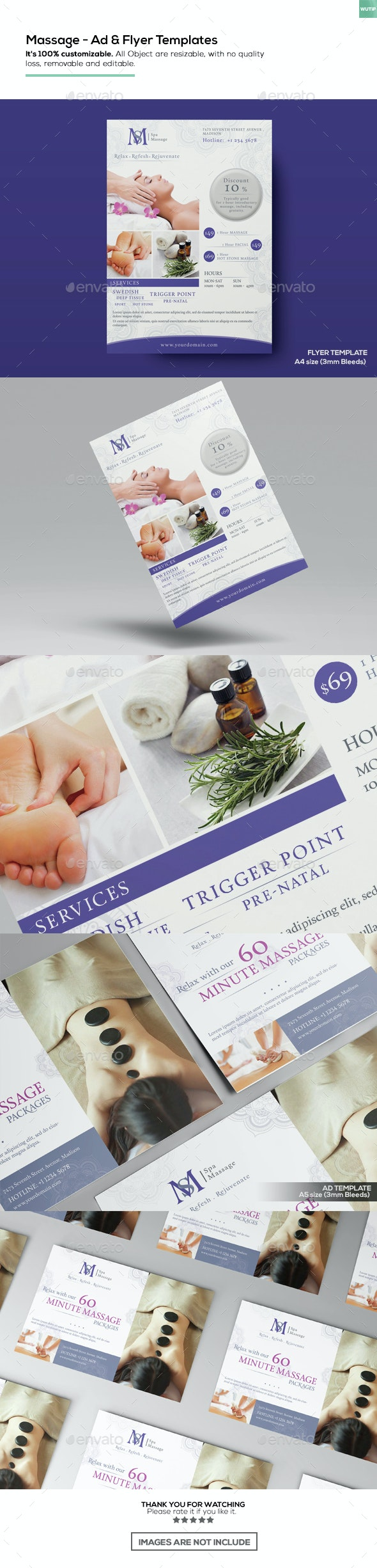 Massage - Ad & Flyer Template - Corporate Flyers