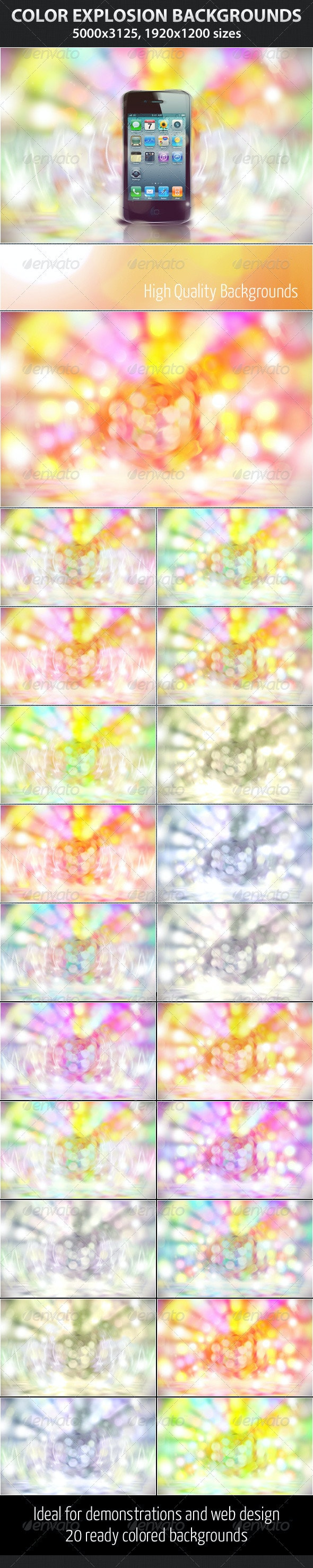 Color Explosion - Abstract Backgrounds