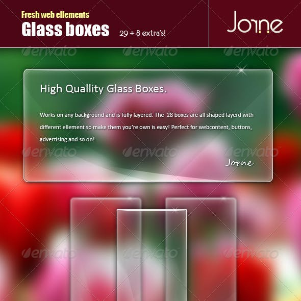 Glass boxes pack