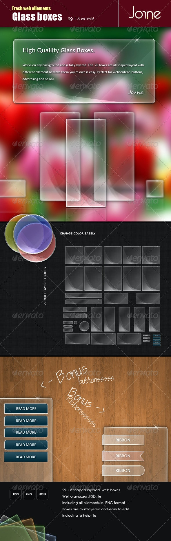 Glass boxes pack - Miscellaneous Web Elements