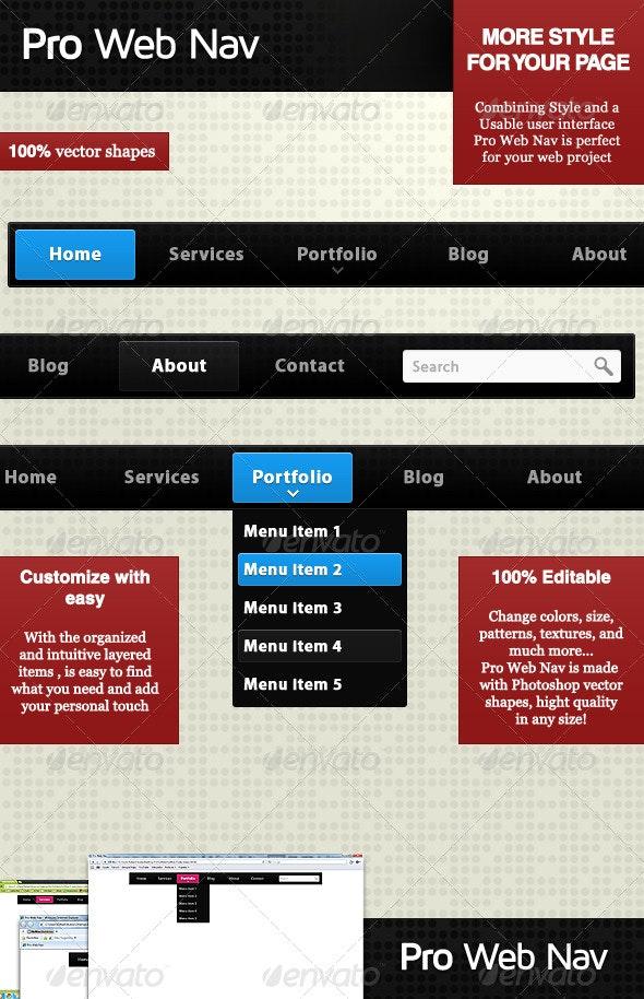 Pro Web Nav - Navigation Bars Web Elements