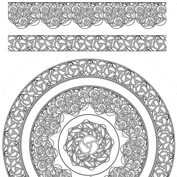Vector Pattern & Borders Brush