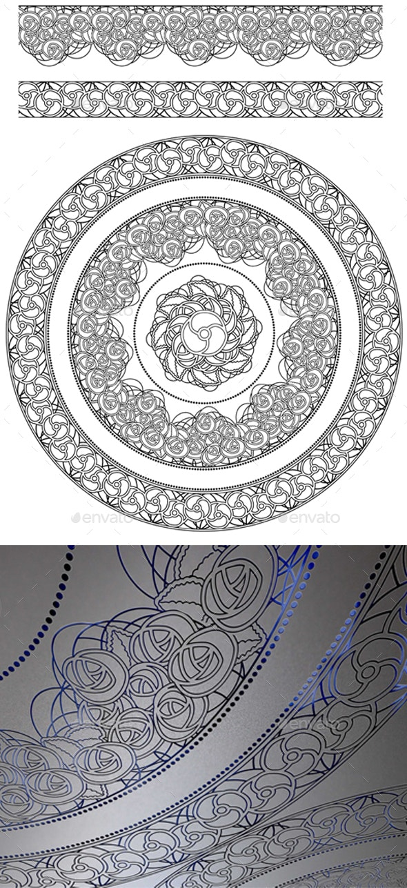 Vector Pattern & Borders Brush - Patterns Decorative