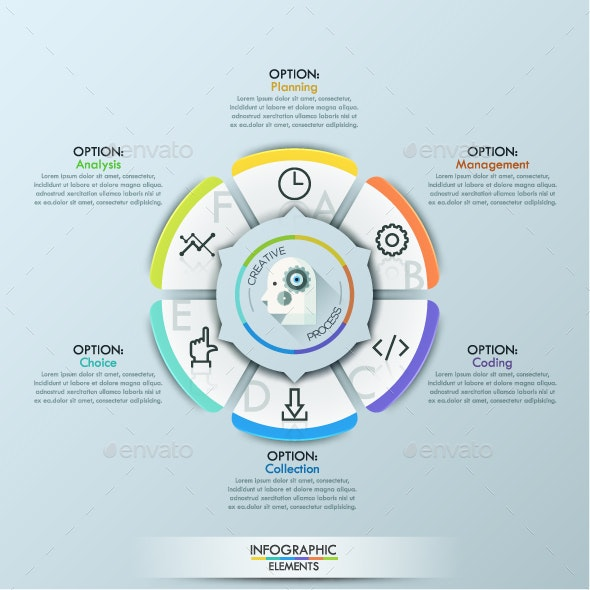 Infographic Creative Process Flower Template