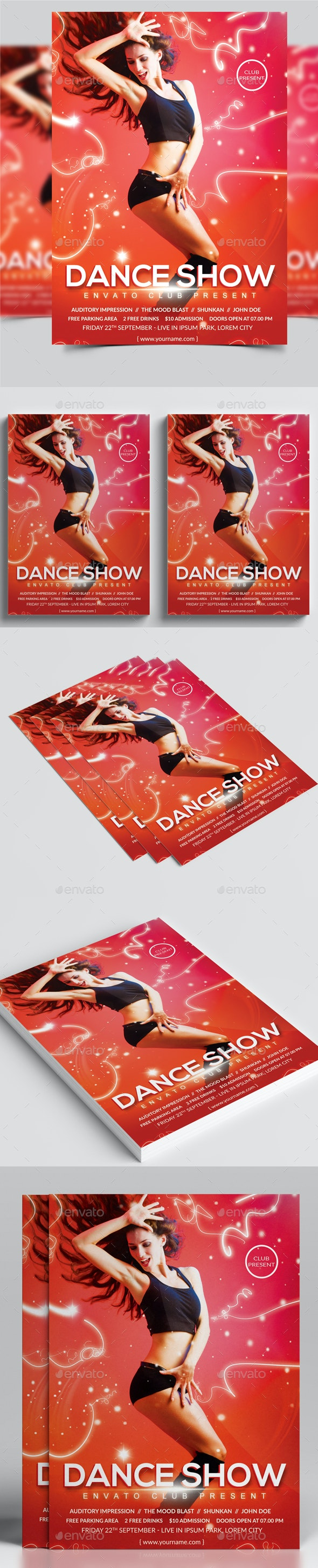 Dance Flyer - Clubs & Parties Events