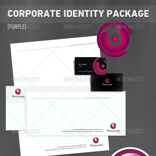 Corporate Identity Package [7 set] - 'Purple'