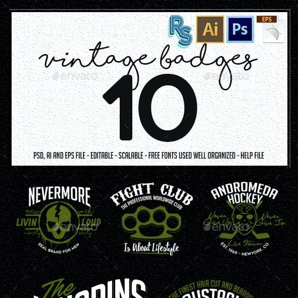 The Vintage Badges Vol.1