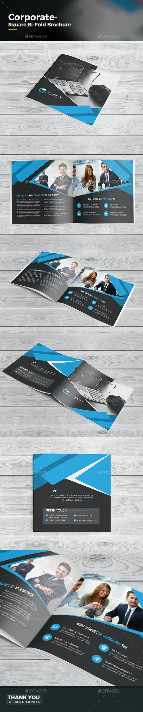 Square Bi Fold Business Brochure - Corporate Brochures