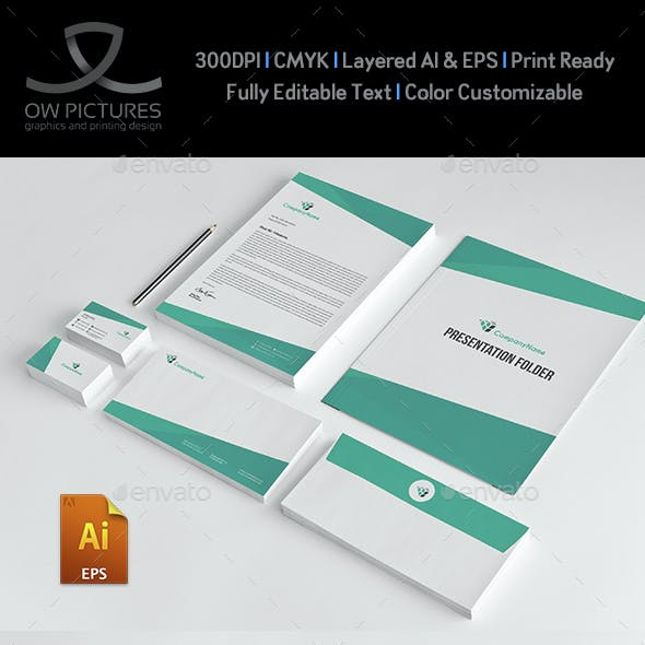 Corporate Stationery Pack Design Template Vol.12