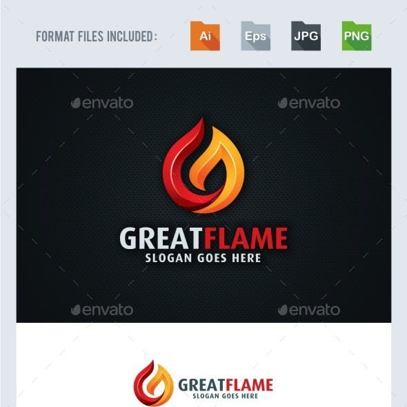 G Letter - Flame Logo Template