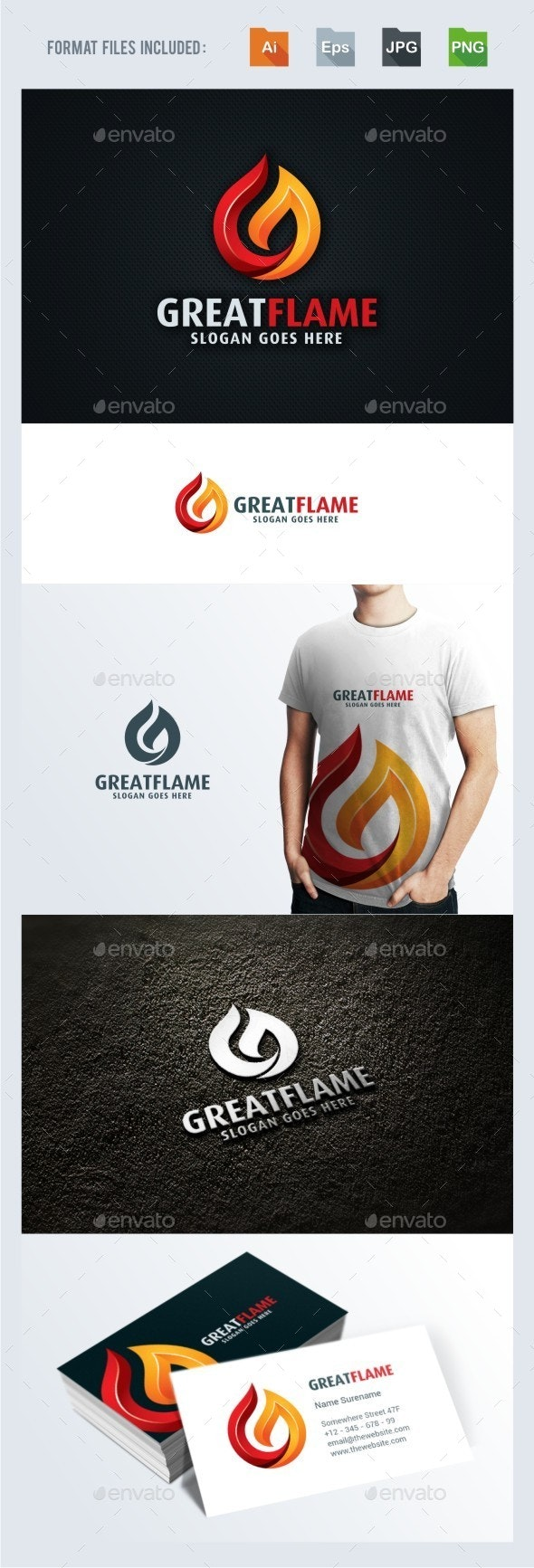 G Letter - Flame Logo Template - Letters Logo Templates