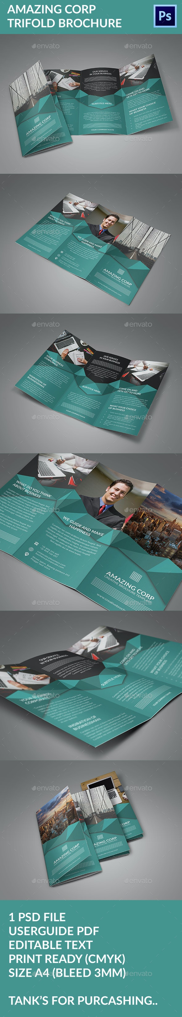Amazing Corporate Trifold Brochure - Corporate Brochures
