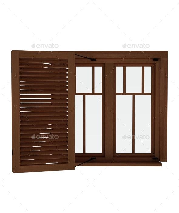 Wood Window - 3D Renders Graphics