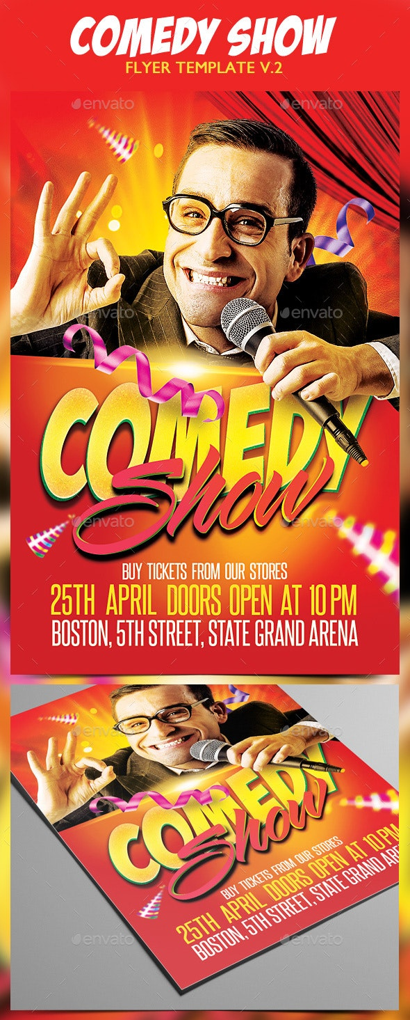 Comedy Show Flyer v.2 - Events Flyers
