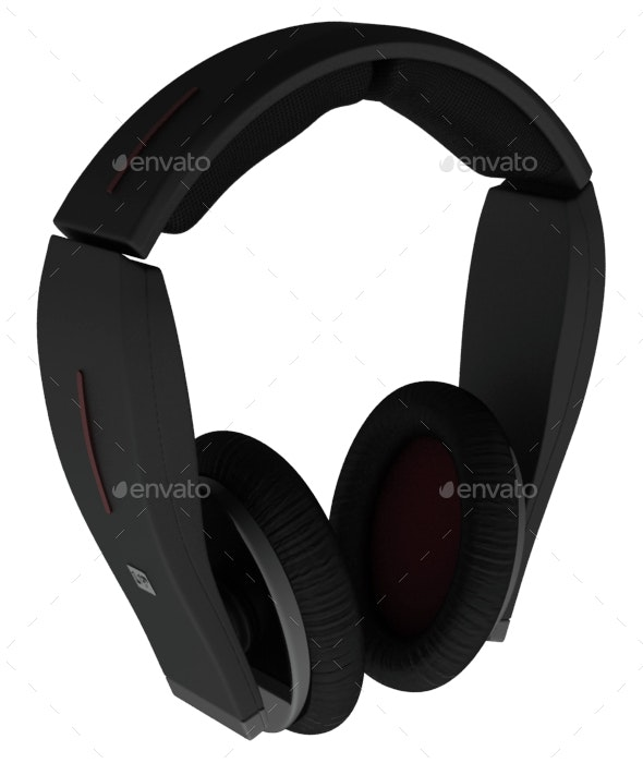 Headphones 3D Render - 3D Renders Graphics