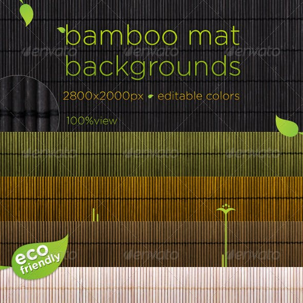Bamboo Mat Natural Backgrounds