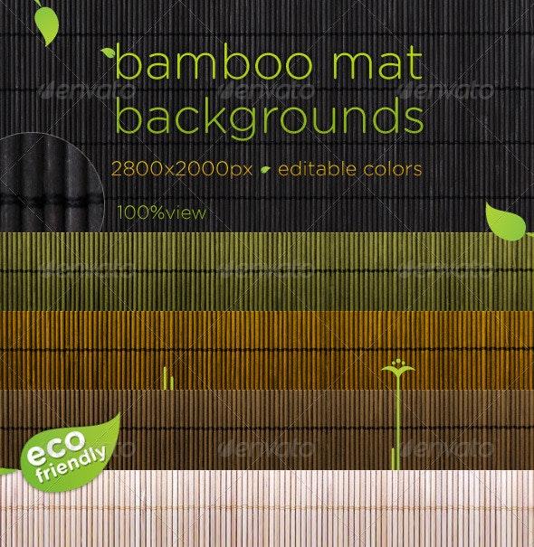 Bamboo Mat Natural Backgrounds - Wood Textures