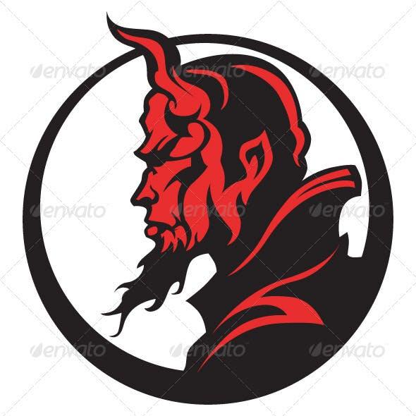 Devil Demon Mascot Head Vector Illustration