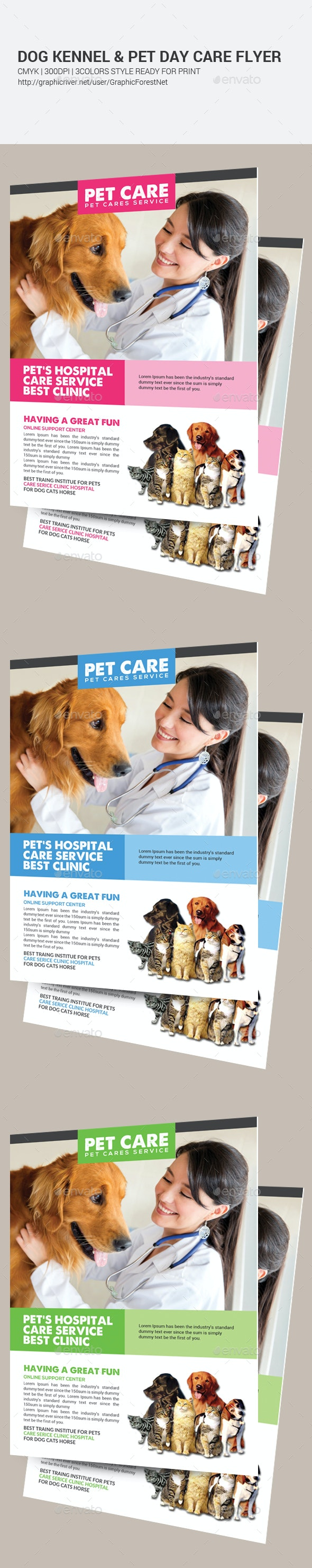 Dog Kennel & Pet Day Care Flyer Template  - Corporate Flyers
