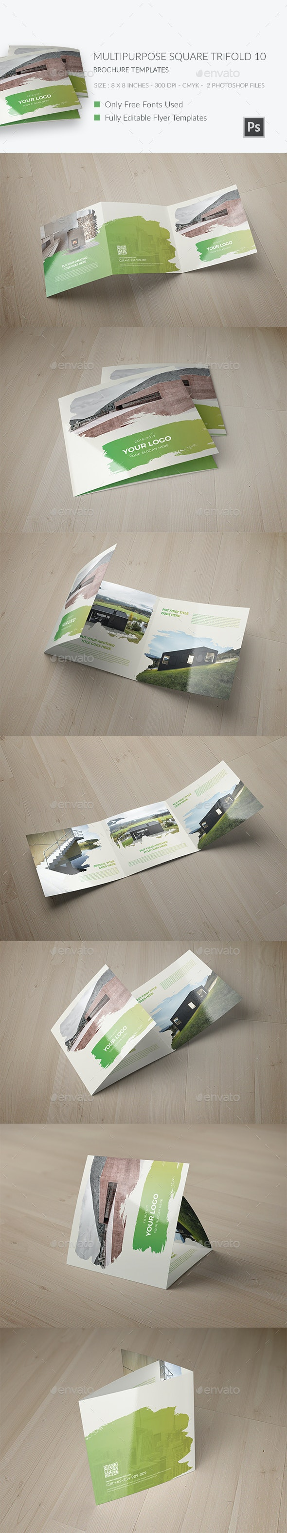 Multipurpose Square Trifold Brochure 10 - Corporate Brochures