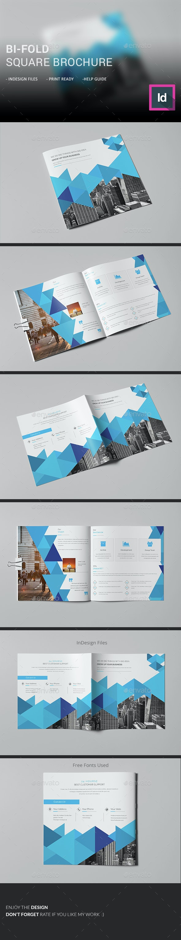 Bi-Fold Square Brochure  - Corporate Brochures