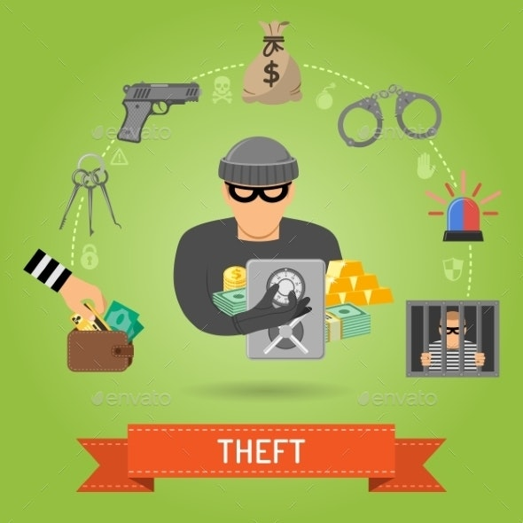 Theft Crime and Punishment Concept - Web Technology