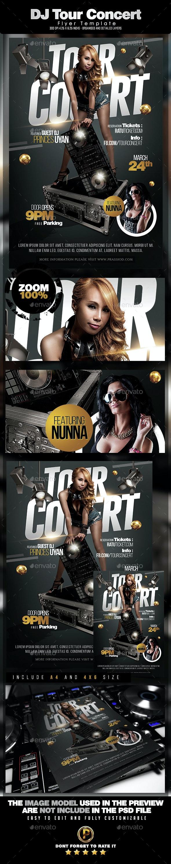 DJ Tour Concert Flyer Template - Events Flyers
