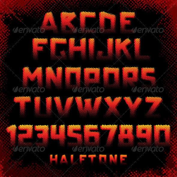 Grunge Style Alphabet - Decorative Symbols Decorative