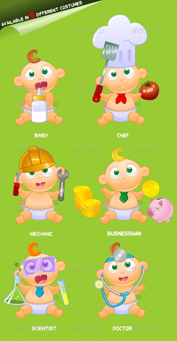 Baby Mascot - People Characters