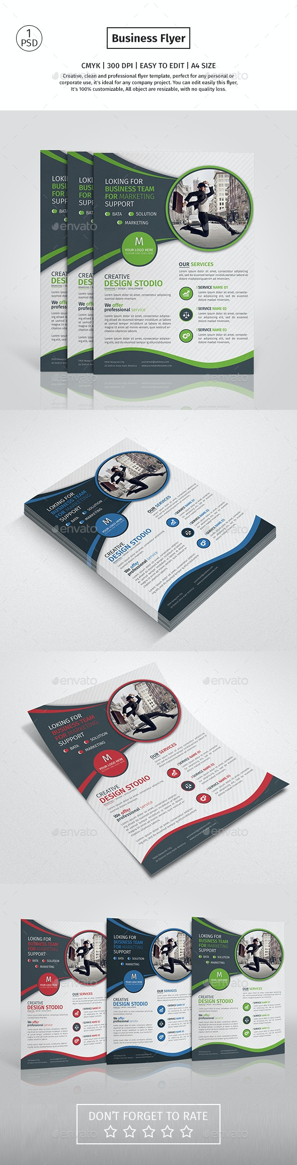 A4 Corporate Business Flyer  - Corporate Flyers