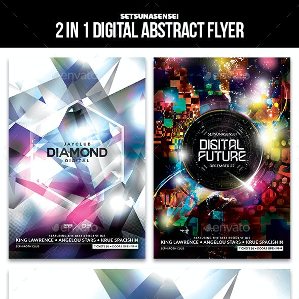 2 in 1 Digital Abstract Flyer