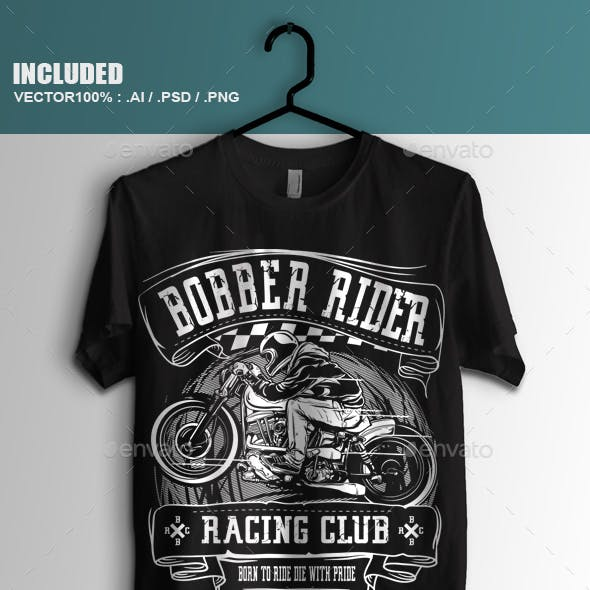 Bobber Rider Racing Club T-shirt