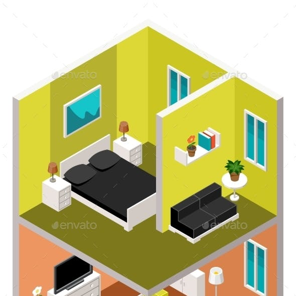 Isometric House in a Section