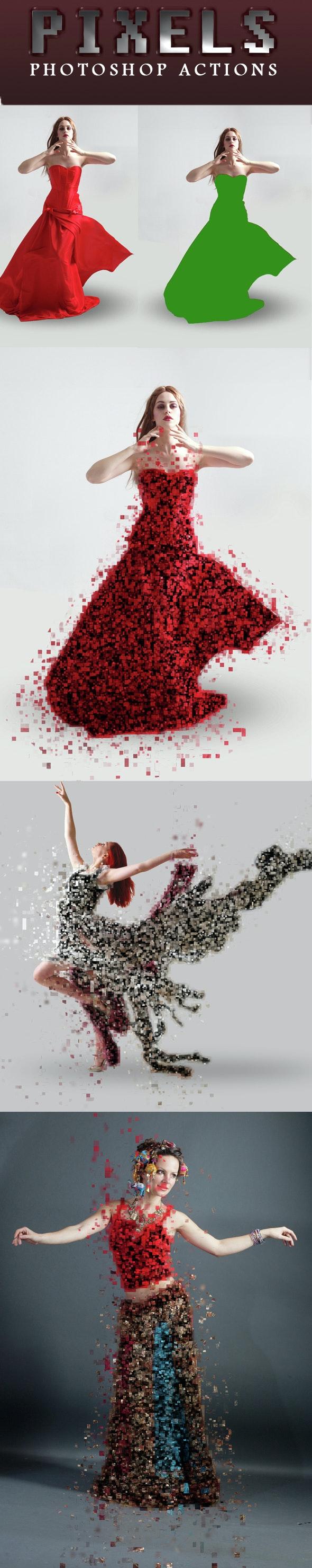 Pixels Photoshop Actions - Actions Photoshop