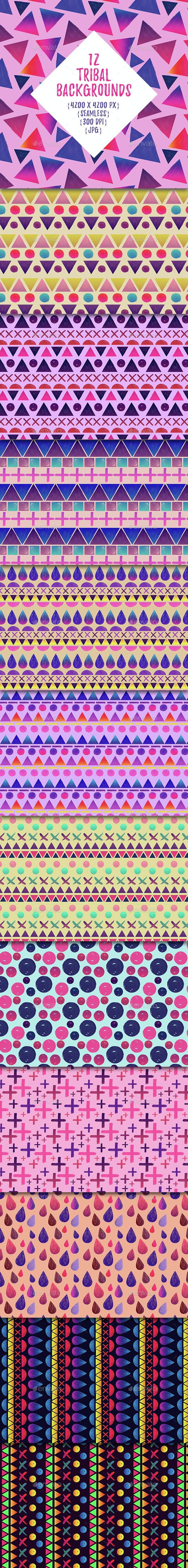 Colorful Tribal Backgrounds - Backgrounds Graphics