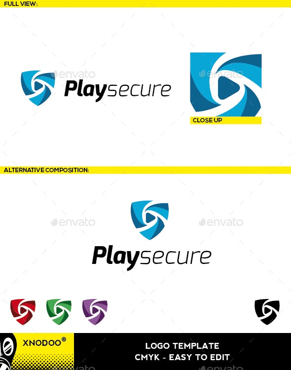 Playsecure Logo - Symbols Logo Templates