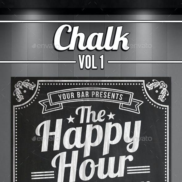 Happy Hour Chalkboard Flyer
